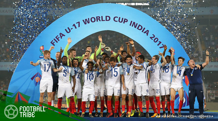Comeback Fantastis Inggris Remukkan Spanyol di Final Piala Dunia U-17