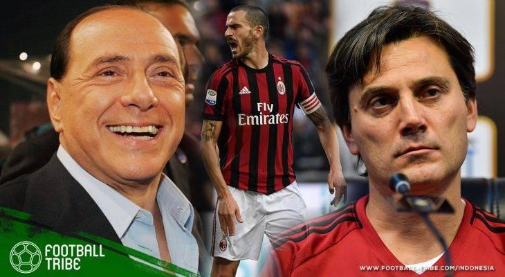 Kritik Keras Silvio Berlusconi terhadap Vincenzo Montella dan Leonardo Bonucci