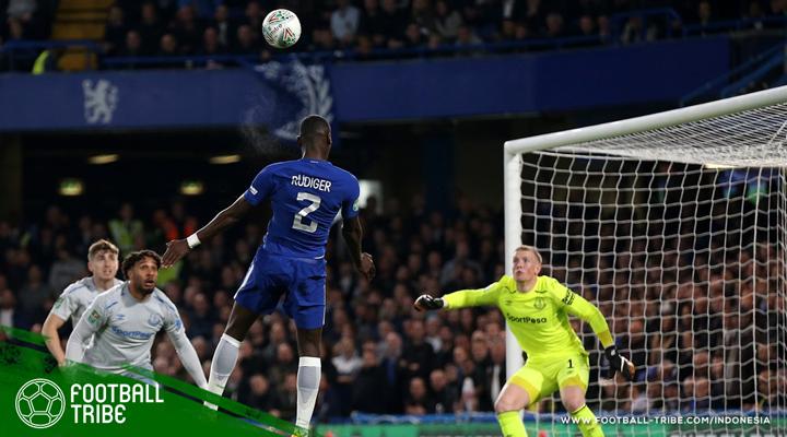 Gol Perdana Antonio Rüdiger Bantu Chelsea Melenggang di Piala Carabao