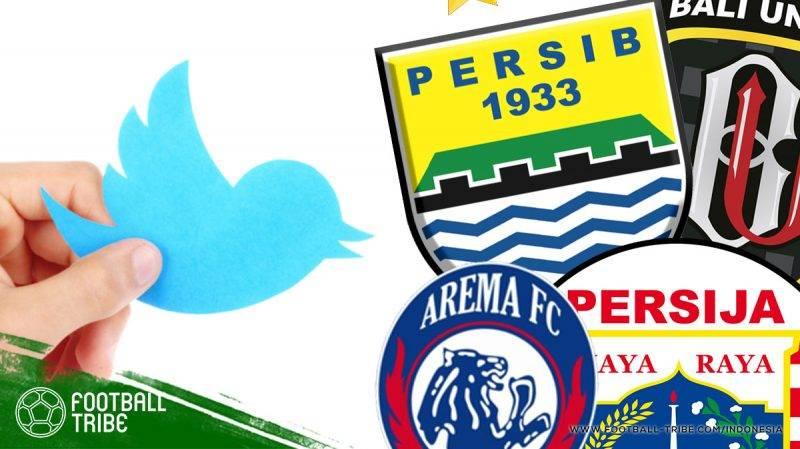 klub Liga 1 yang paling banyak dibicarakan di Twitter