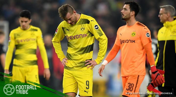 Tak Diperkuat Pierre-Emerick Aubameyang, Borussia Dortmund Keok Lagi