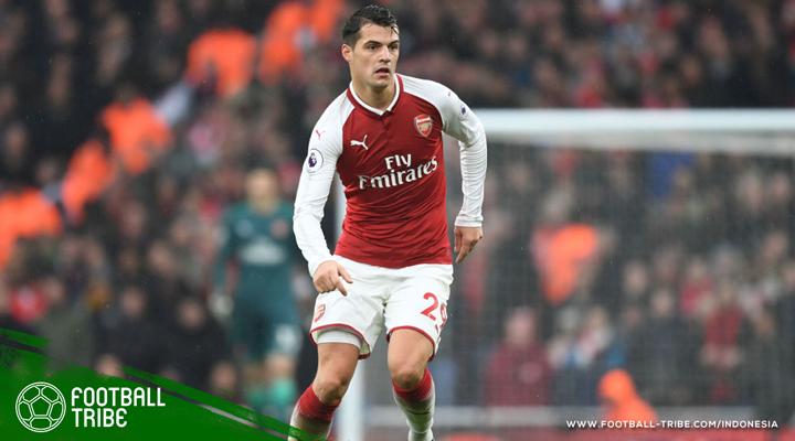 Granit Xhaka Optimis Arsenal Mampu Kejar Manchester City