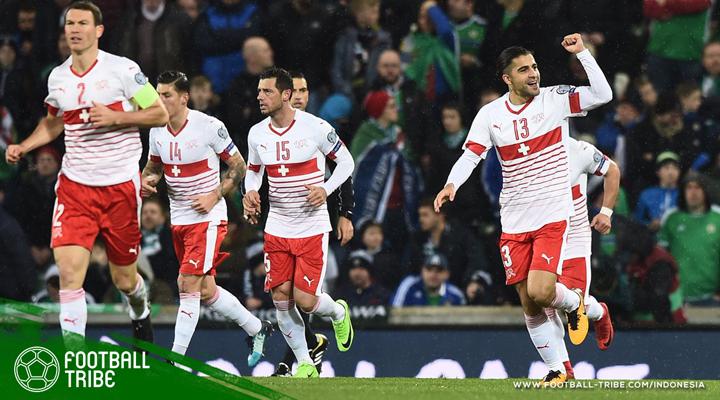 Curi Gol di Belfast, Selangkah Lagi Swiss ke Piala Dunia 2018