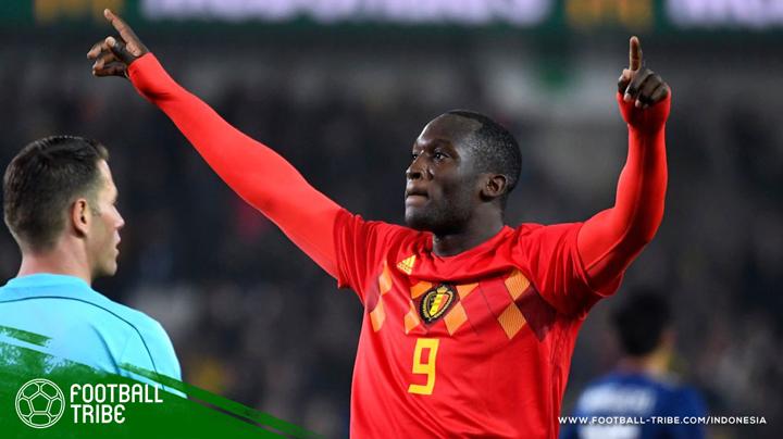 Gol Romelu Lukaku ke gawang tim nasional Jepang