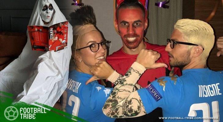Parade Kostum (Tak) Seram Pesepak Bola di Perayaan Halloween