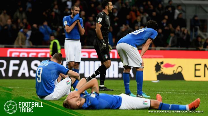 Italia dan Negara-Negara Besar yang Pernah Gagal Lolos Piala Dunia