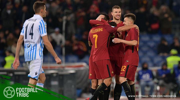 Edin Dzeko Sudahi Puasa Gol, AS Roma Tundukkan SPAL 3-1