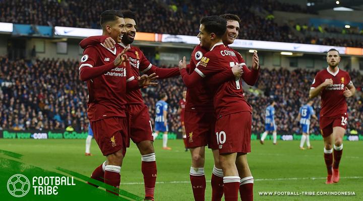 Dua Samba Liverpool Acak-acak Kandang Brighton