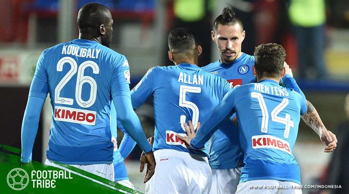 Serba '17' Hamsik di Kandang Crotone, Napoli Juara Paruh Musim Serie A 2017/2018
