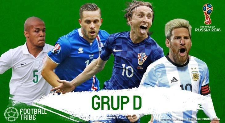 Grup D Piala Dunia 2018: Romansa Argentina-Nigeria, Ketangguhan Kroasia, dan Misteriusnya Islandia