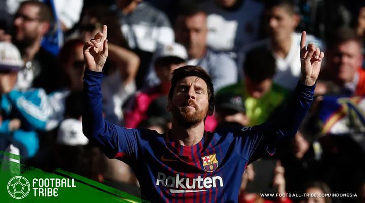 Menguasai Berbagai Rekor dan Mengirim Asis tanpa Satu Sepatu, Lionel Messi Merajai El Clasico