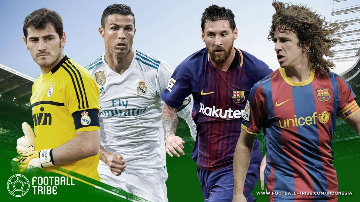 skuat Real Madrid dan Barcelona