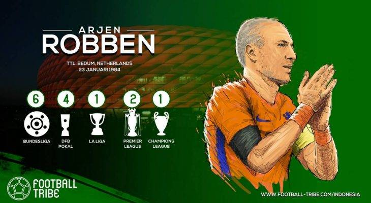 Arjen Robben yang Menyempurnakan Peran Inverted Winger