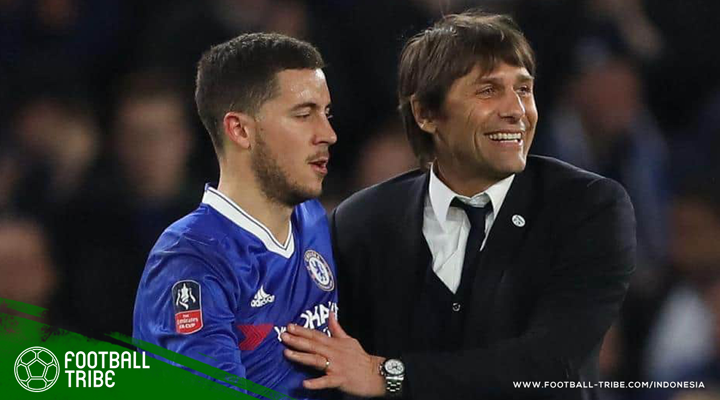 Ketika Eden Hazard Memberi Nasihat Taktik kepada Antonio Conte