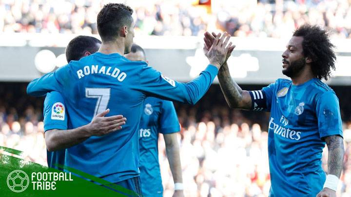 Real Madrid hanya berjarak dua poin dari Valencia