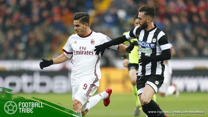 posisi Milan di peringkat 7