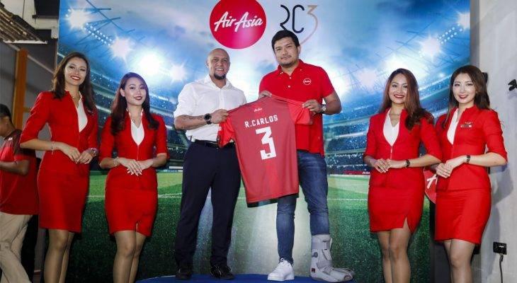 AirAsia Resmi Mengikat Kerja Sama dengan Roberto Carlos sebagai Brand Ambassador