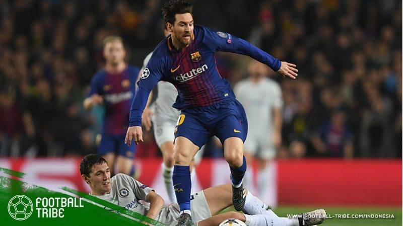 Barcelona berhasil menuntaskan perlawanan Chelsea
