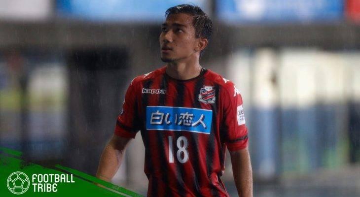 Sundulan Terbang Chanathip Songkrasin Susul Capaian Teerasil Dangda di J.League