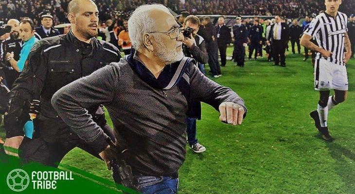 Pemilik Klub PAOK Salonika Bawa Pistol ketika Masuk Menyerbu Lapangan