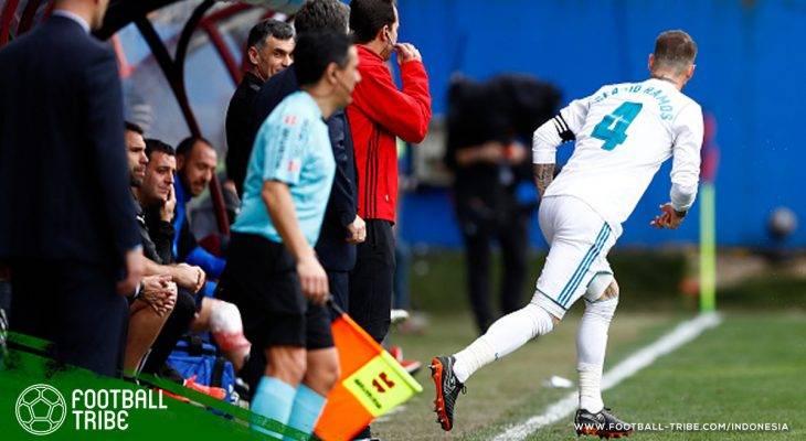 Sempat 'Menghilang' dari Pertandingan Selama Lima Menit, Sergio Ramos Ternyata Kebelet Buang Air