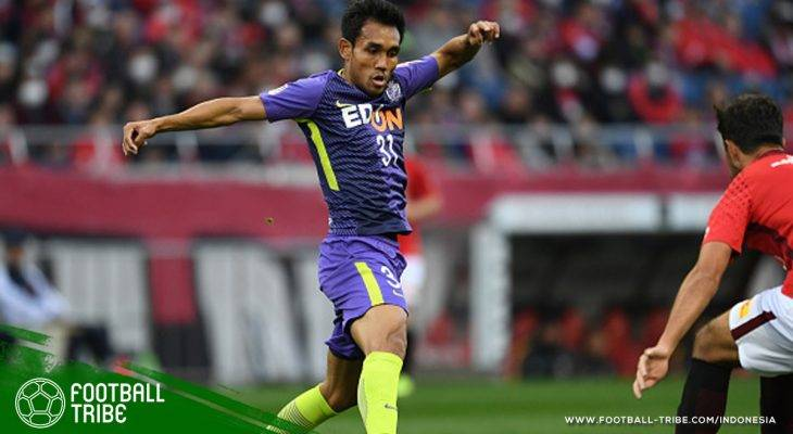 Gol Teerasil Dangda Bawa Sanfrecce Hiroshima Puncaki Klasemen Piala Liga