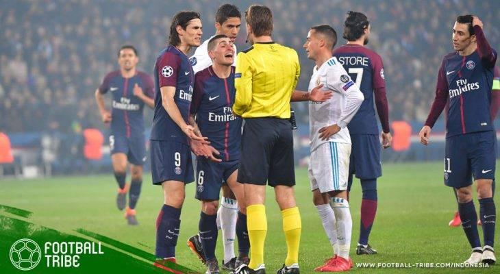 Rentetan Kartu Merah Marco Verratti di Liga Champions Eropa yang Menyulitkan PSG