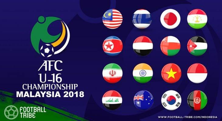 Hasil Drawing AFC U-16 2018, Indonesia Tergabung dengan Iran, India dan Vietnam