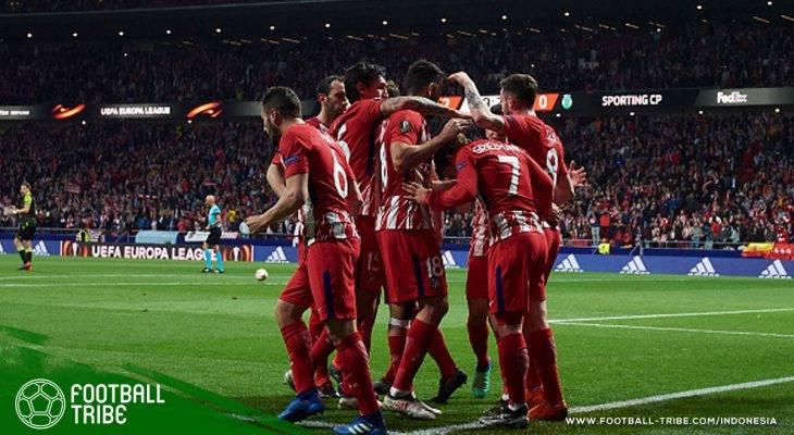 Di Tengah-Tengah Kisruh Logo Klub dan Persiapan Derby Madrid, Atletico Taklukkan Sporting