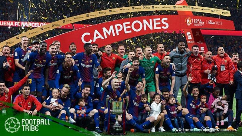 Barcelona berhasil memenangkan trofi