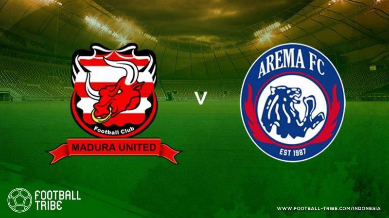Madura United sukses memenangi derbi Jawa Timur Arema FC mengincar raihan angka