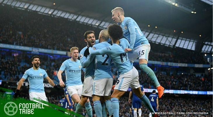 Rekor-Rekor Impresif di Balik Gelar Juara Liga Primer Inggris Milik Manchester City Musim 2017/2018