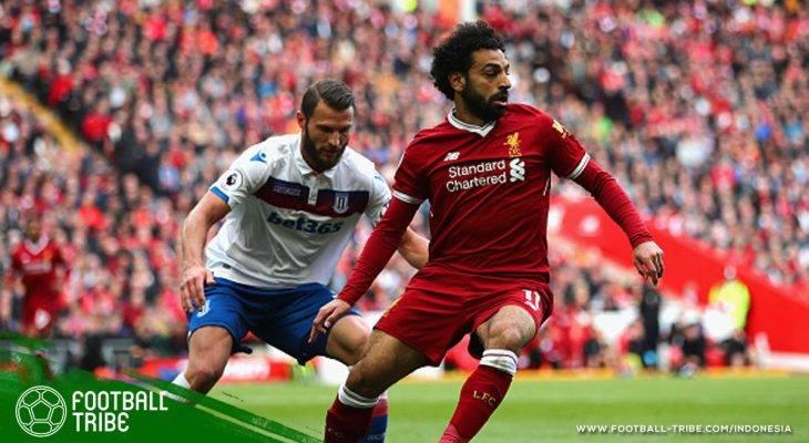 Kemungkinan Hukuman Tiga Laga bagi Mohamed Salah Akibat Layangkan Tinju ke Bek Stoke City