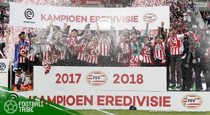 Lumat Ajax Amsterdam, PSV Eindhoven Juarai Eredivisie 2017/2018