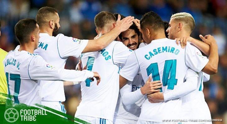Taklukkan Malaga, Real Madrid Geser Valencia di Peringkat Ketiga