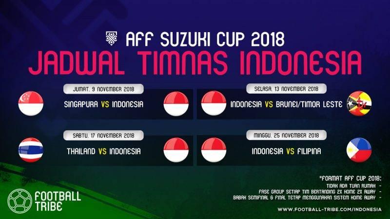 jadwal lengkap Indonesia di Piala AFF