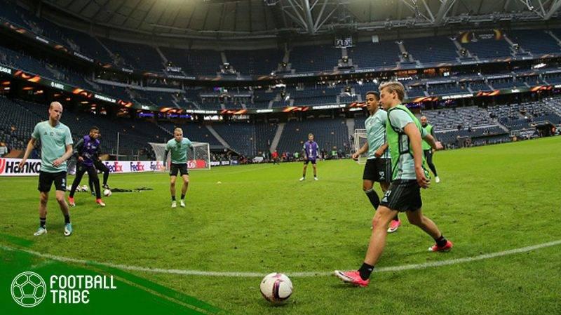Ajax Amsterdam mengadakan latihan