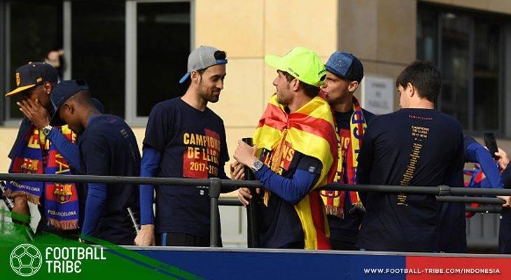 "Mereka yang ""Terlupakan"" di Kaus Perayaan Juara Barcelona"