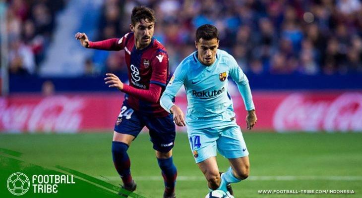 Laga Banjir Gol, Rekor Tak Terkalahkan Barcelona di La Liga Dibuyarkan Levante