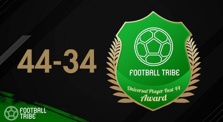 Football Tribe 44 Universal Player Awards: Peringkat 44-34