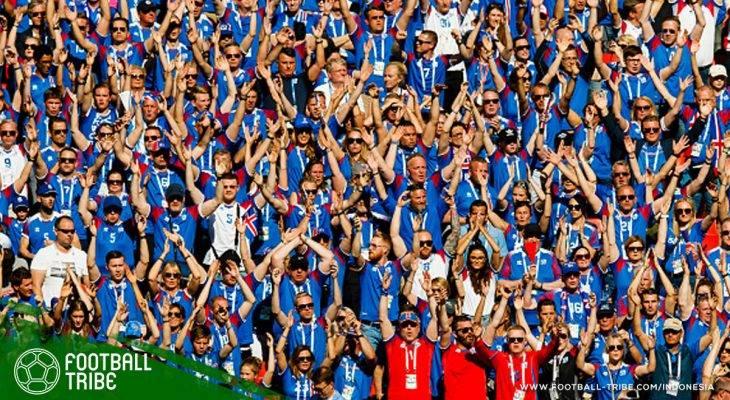 99.6 Persen Warga Islandia Menonton Pertandingan Negaranya di Piala Dunia!