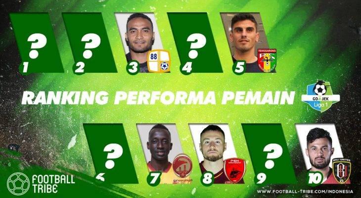 Peringkat Performa Pemain Go-Jek Liga 1 Indonesia 2018 (Pekan 7-11)