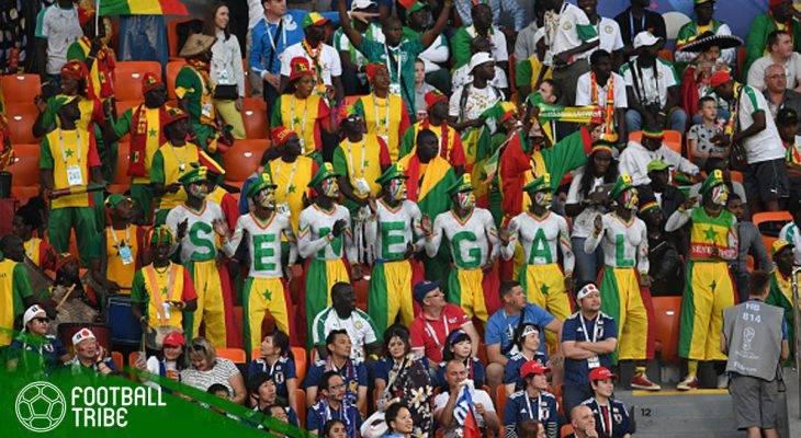 Keceriaan Pendukung Senegal dan Jepang Menyanyikan Lagu One Piece