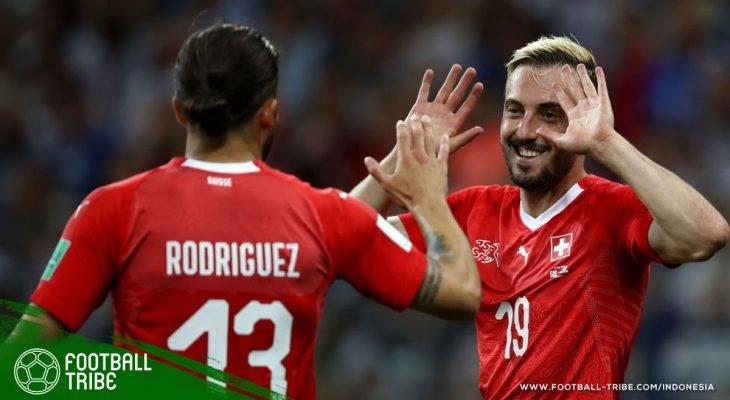 Piala Dunia 2018, Swiss vs Kosta Rika: Parade Empat Gol Antar Die Nati Temani Brasil