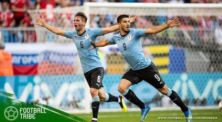 Hasil Pertandingan Piala Dunia 2018 (25-26 Juni): Tiga Angka Arab Saudi, Tiga Gol Uruguay, dan Dua Hasil Imbang Duo Iberia