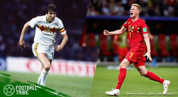Kevin De Bruyne dan Jan Ceulemans, Dua Pencetak Gol yang Membawa Belgia ke Semifinal