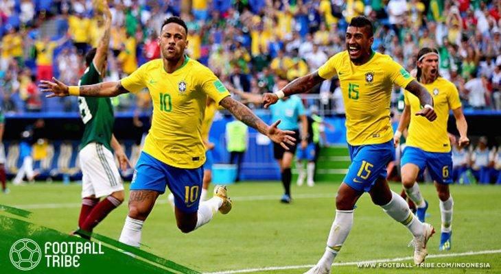 Piala Dunia 2018, Brasil vs Meksiko: Lagi-lagi Tak Ada Laga Kelima Untuk El Tricolor