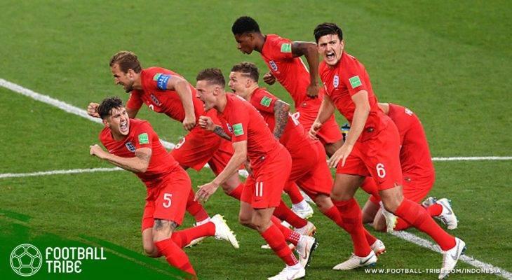Inggris Menang di Adu Penalti untuk Pertama Kali Sepanjang Sejarah Keikutsertaan Mereka di Piala Dunia