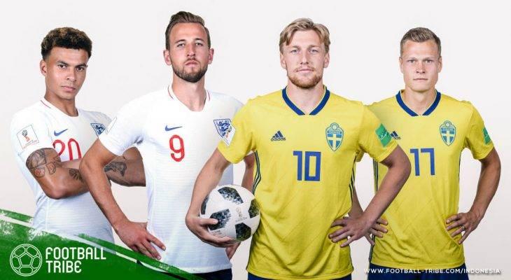 Prediksi Piala Dunia 2018, Swedia vs Inggris: Membuktikan Auman Tiga Singa