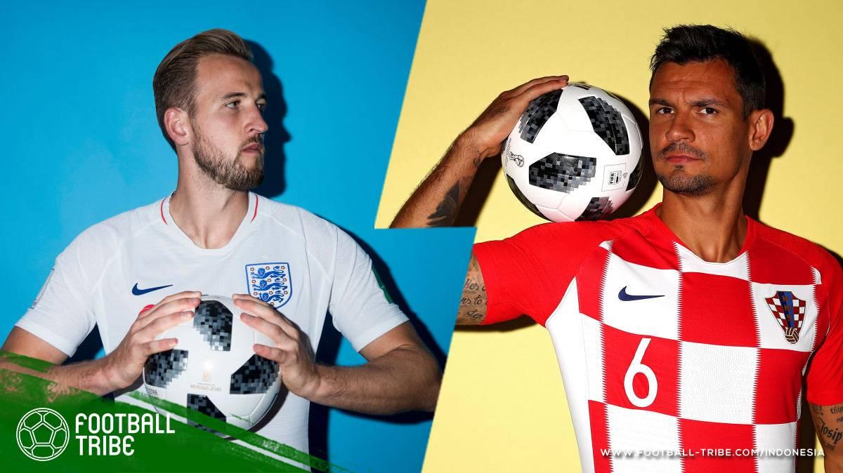 Head to Head Pemain Kroasia dan Inggris di Semifinal Piala Dunia 2018